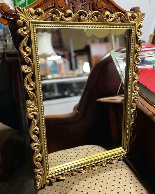 Vintage Australian made Wooden Ornate Wall Mirror in Very Good Condition