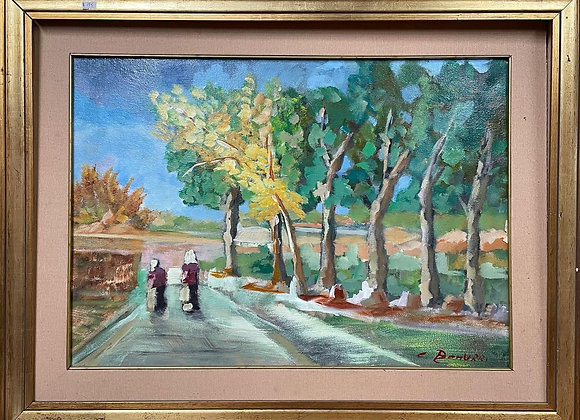Original Oil Painting on Canvas Signed by C. Bonurri (Italy, 1975)