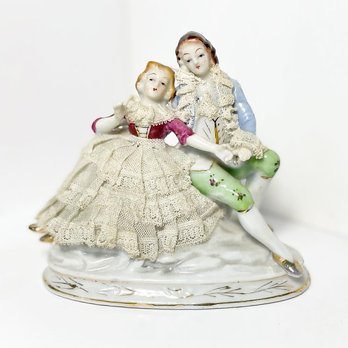 Stunning Vintage Porcelain Hand-Painted Figurine from C.1980's