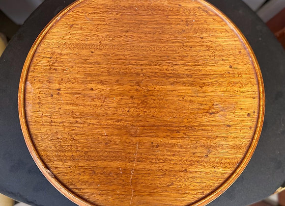 Vintage Solid Australian Oak Lazy Susan Turntable in Good Condition