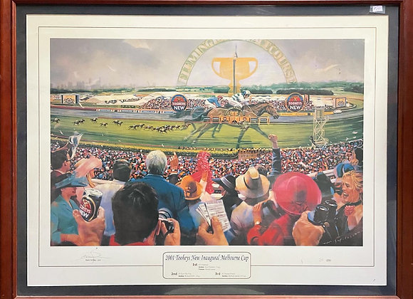 Print of '2001 Tooheys New Inaugural Melbourne Cup' signed by Mark Sofilas