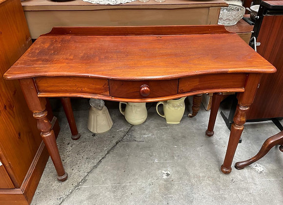 Elegant Victorian Cedar 1 Drawer Hall Table in Very Good Condition