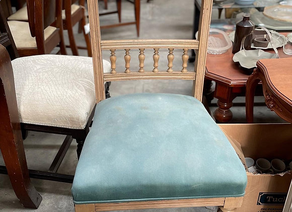 A Pair of Vintage Oak Dining Chairs