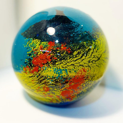 Decorative Australian Made Collectable Vintage Blow Glass Paperweight Ball