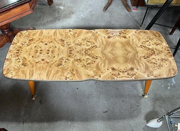Unique Rectangular Retro Mid-Century Coffee Table