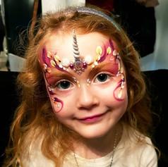 Fairy unicorn face paint
