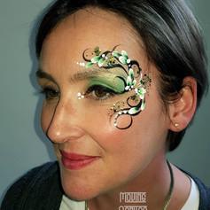 festival adult eye design facepaint