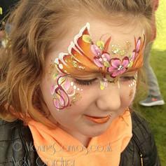 Butterfly facepaint