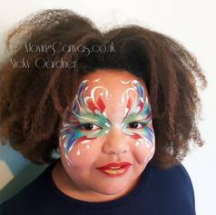 Festival butterfly face paint