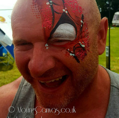 Spiderman Eye design face paint