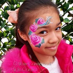 Rose eye design face paint