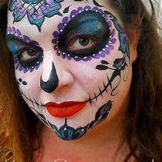 Decorated skull face paint