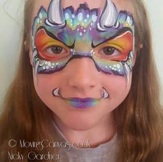 Cute Monster face paint