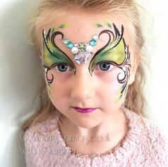 Halloween fairy Mask face paint