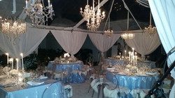 linens tent lights chairs total pack