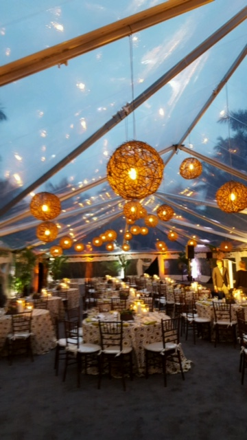 clear tent custom lighting