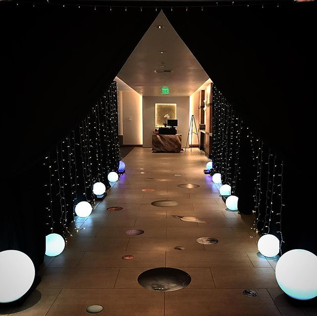 #partytimerentals #partytimerentalsnaples #entrance #starlightstarbright #spacetheme #pipeanddrape #