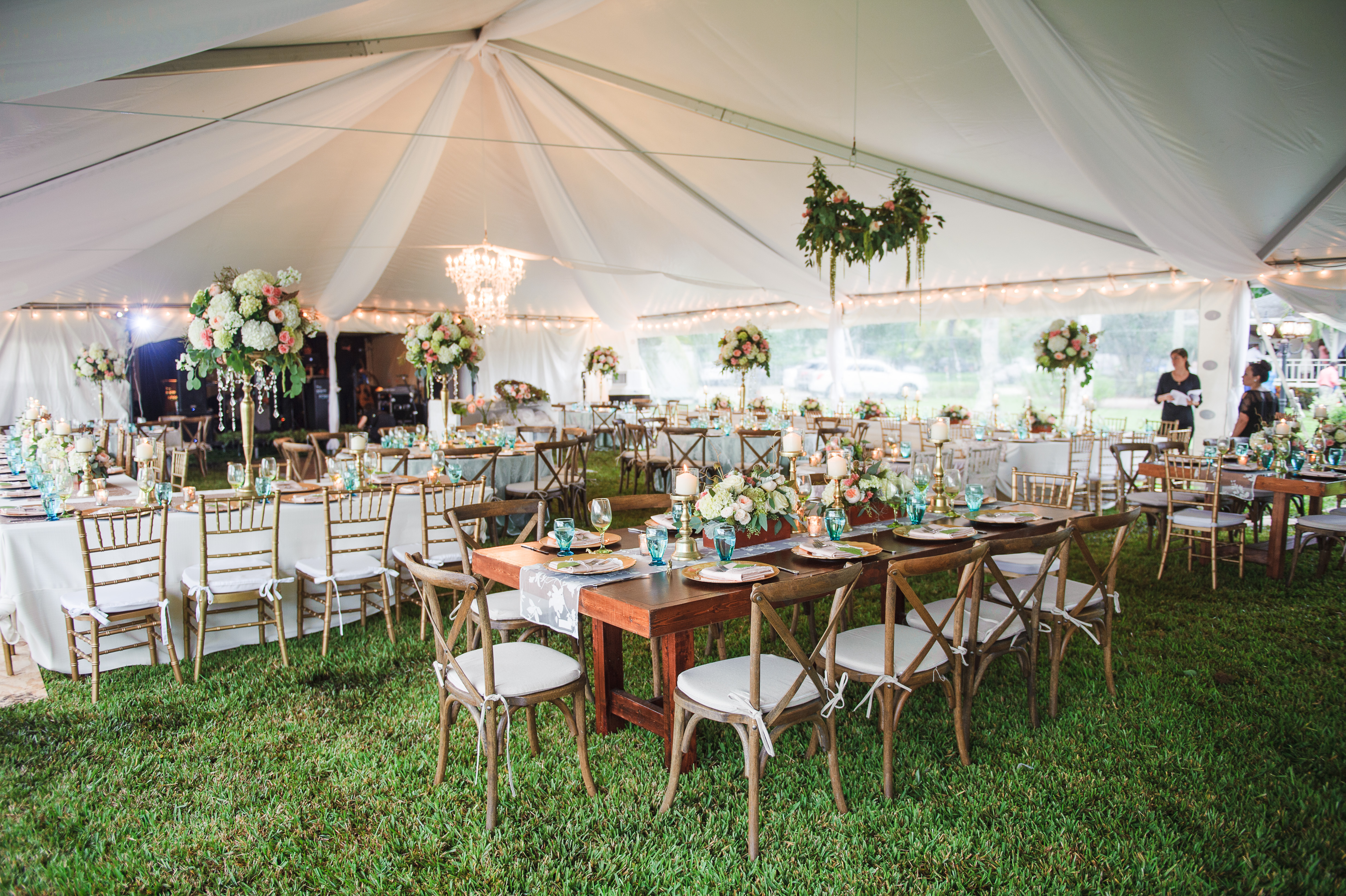 tents, fabric ceiling , wedding set