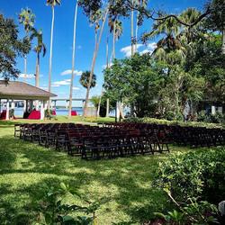 #partytimerentalsnaples #ceremonychairs #maghoganyfoldingchair #weddings #setup