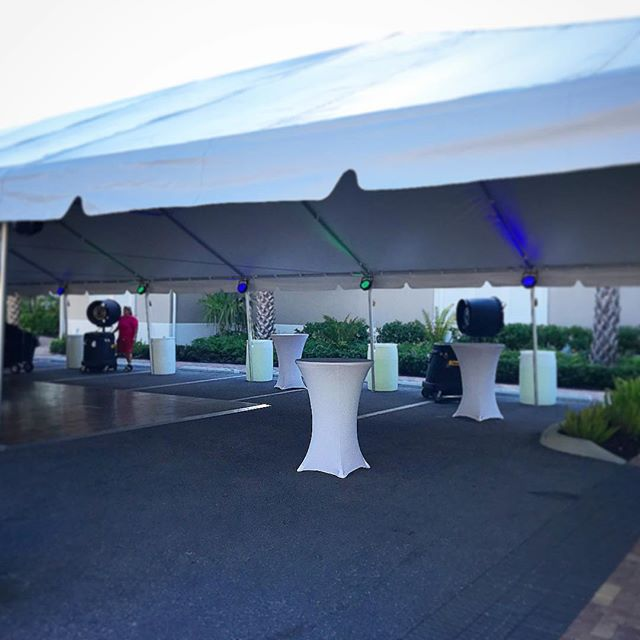 tent dancefloor lighting