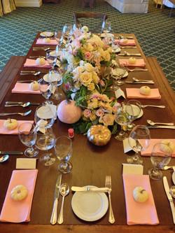 blush harvest walnut king table