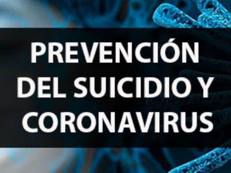 JORNADAS PREVENCIÓN DE SUICIDIO Y CORONAVIRUS