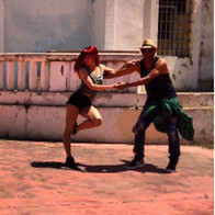 Salsa on a music video shoot in Ibiza