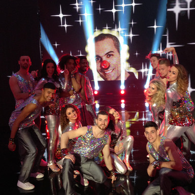 Birthday surpsire on set at Let's Dance for Comic Relief