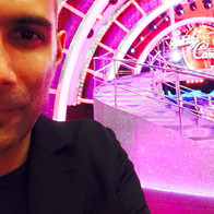 On set at Strictly Come Dancing