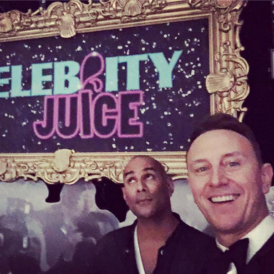 Celebrity Juice selfie with Ian Waite