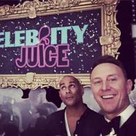 Celebrity Juice selfie with Ian Waite