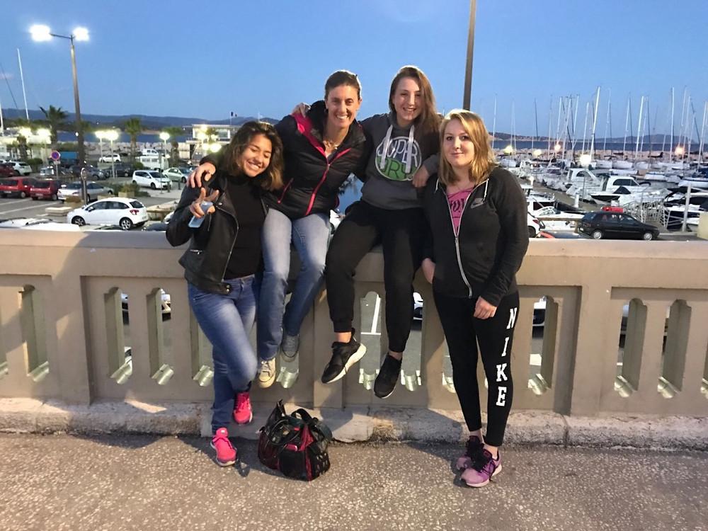 Notre équipe 1 femmes victorieuse le week-end dernier à la Ciotat (Anais, Christelle, Estelle et Céline de g. à d.)