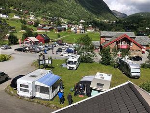 Camping på framsida