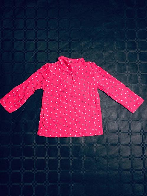 T-shirt rose petit coeur