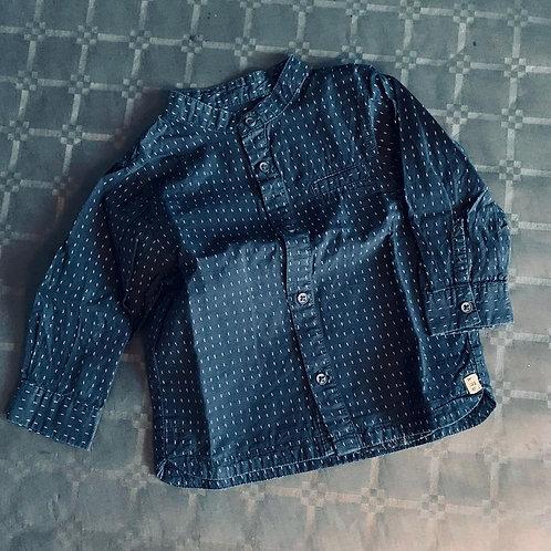Chemise à pois garçon (6-12 mois)