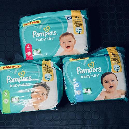Mega Pack pampers x 3