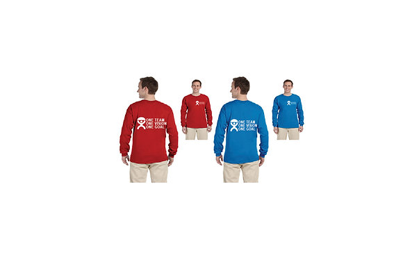 """LONG SLEEVE """"ONE TEAM ONE VISION ONE GOAL"""""""