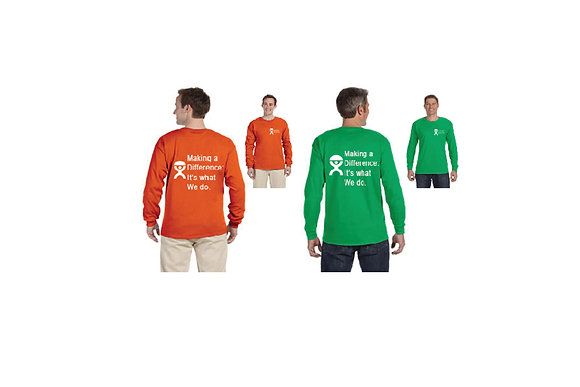 "LONG SLEEVE ""MAKING A DIFFERENCE: IT'S WHAT WE DO"""
