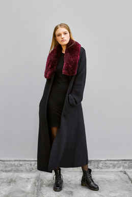 Wrap Fur Overcoat 70% Baby Alpaca - 30% Wool / Alpaca Fur