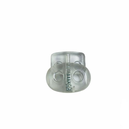 """SR00004 - stopper PVC """"double holes"""" trans/fluo"""