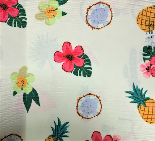 Printed Fabric (Hibiscus, Pineapple & Coconut)
