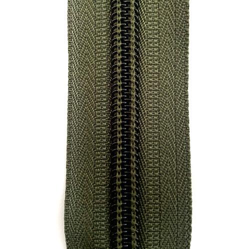 Zipper Nylon #6 (Dark Green)