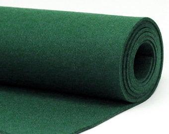 Polyester Fabric - green feutre/felt (1.5mt)