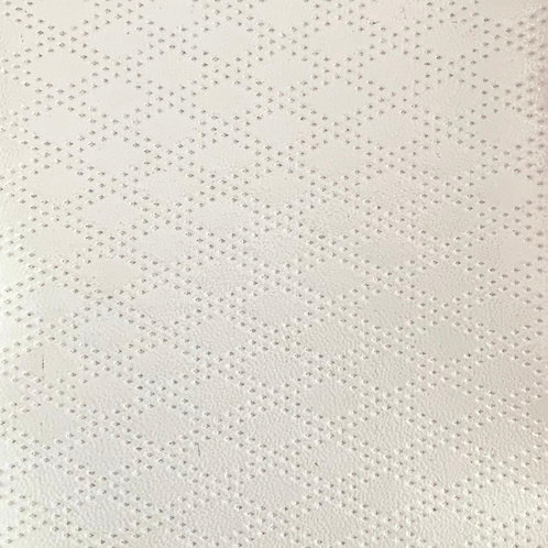 PU Leather - Rhombus (White)
