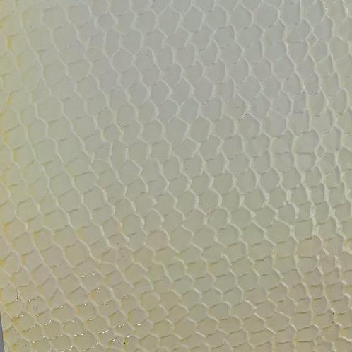 PU Leather - Croco (White)