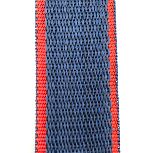 "Webbing WB12501 (1.25"") Red/Dark Blue"