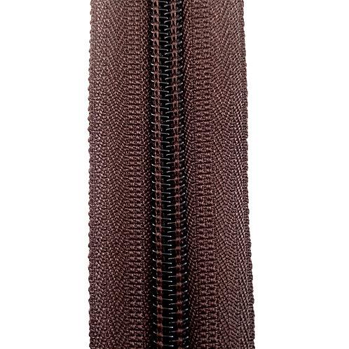 Zipper Nylon #6 (Dark Brown)