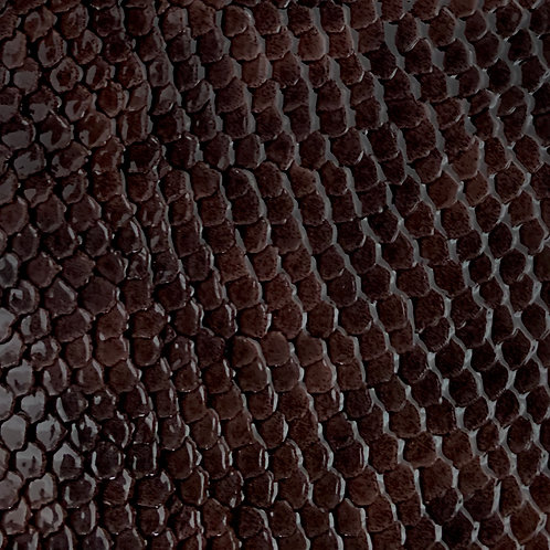 PU Leather - Croco (Dark Brown)