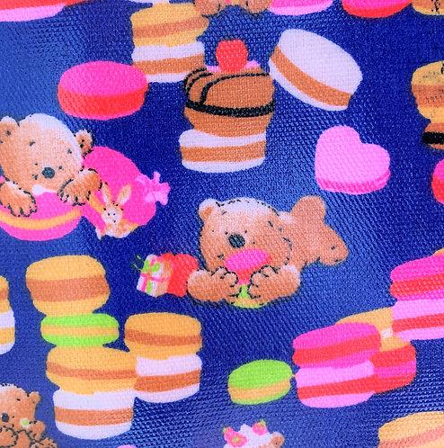 Printed Fabric (Macaron Bear - Blue)