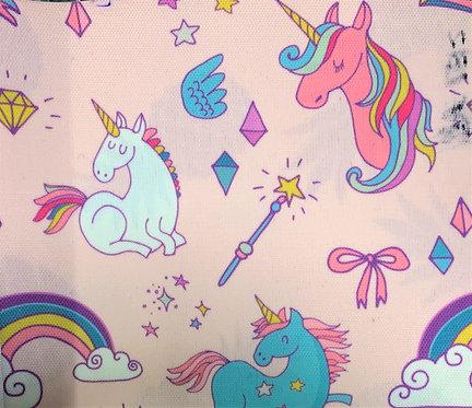 Printed Fabric (Pink Unicorns)
